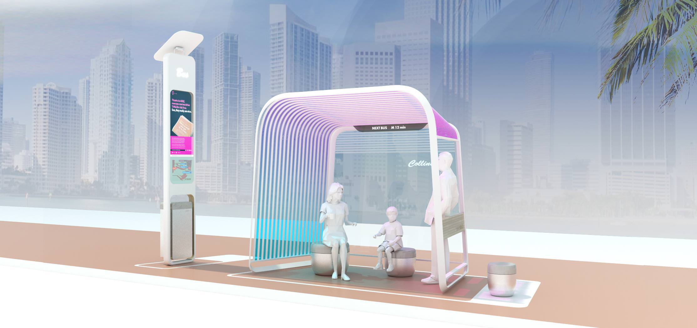 Miami Beach officials are considering replacing nearly 300 bus stops throughout the city with a new design.